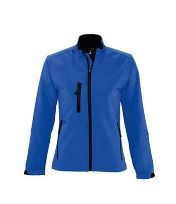 SOLS Womens/Ladies Roxy Soft Shell Jacket (Breathable, Windproof And Water Resistant) (Royal Blue) - UTPC348