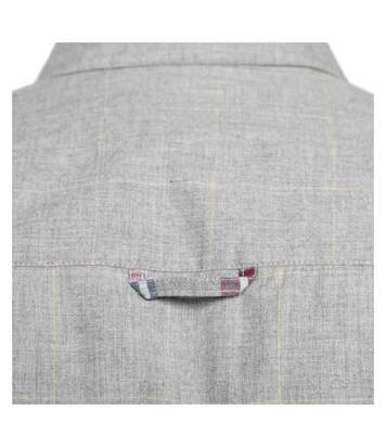 Chemise carreaux fondus manches longues