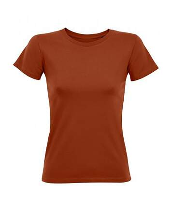 Sols - T-Shirt Regent - Femme (Marron) - UTPC2921