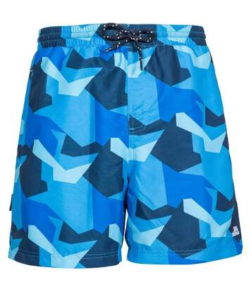 Trespass Mens Chiggers Mid Length Swim Shorts (Blue Camo) - UTTP4691