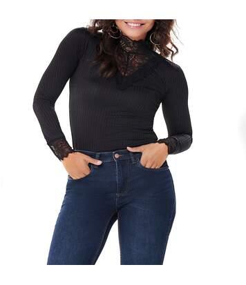 Rine Femme Tee-shirt Noir Jacqueline de Yong