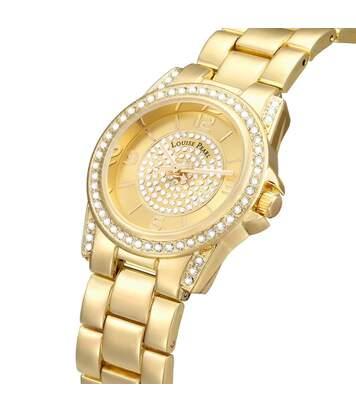 Montre Femme LOUISE PEARL Ornée de Cristaux Swarovski bracelet Acier Doré