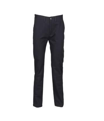 Henbury Mens 65/35 Flat Fronted Chino Trousers (Navy) - UTRW2700