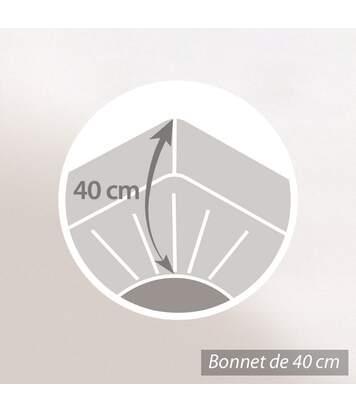 Protège matelas imperméable 140x190 cm ANTONY Molleton enduction acrylique Grand bonnet 40cm