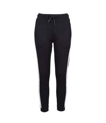 Build Your Brand Womens/Ladies Jogging Bottoms (Black/White) - UTRW7721