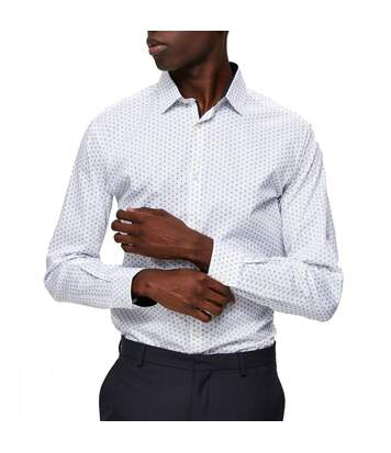 Chemise blanche à motifs homme Selected Slimnew-mark