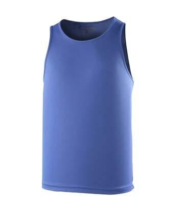 Just Cool Mens Sports Gym Plain Tank / Vest Top (Fire Red) - UTRW687