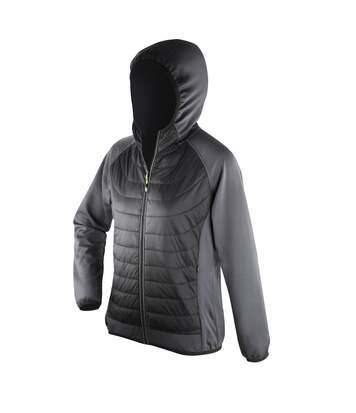 Spiro Womens/Ladies Zero Gravity Showerproof Jacket (Black/Charcoal) - UTPC2619