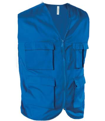 GILET MULTIPOCHES NON DOUBLÉ Royal Blue