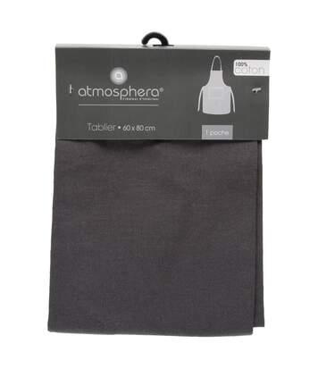 Atmosphera - Tablier gris foncé 1 poche en coton 60X80