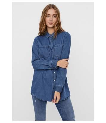 Chemise longue en jeans