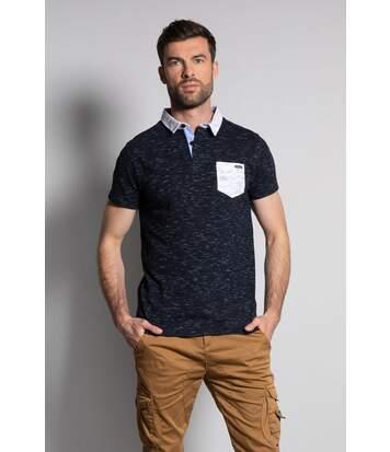 Polo chiné avec poche plaquée ELIJAH Navy