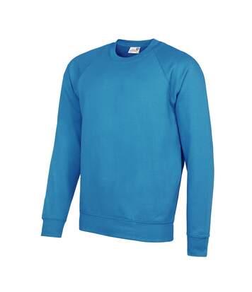 AWDis Academy Mens Crew Neck Raglan Sweatshirt (Sapphire) - UTRW3916