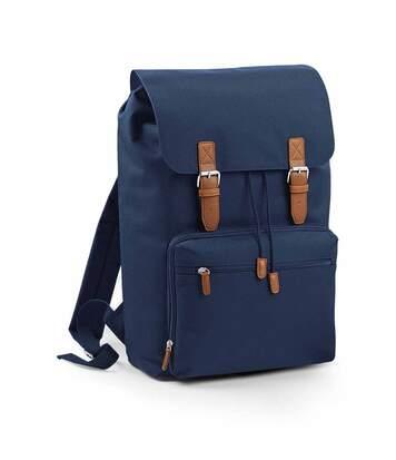 Sac à dos vintage avec compartiment pour ordinateur - BG613 - bleu marine