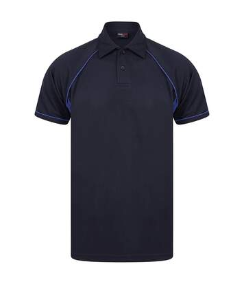 Finden and Hales Mens Performance Piped Polo Shirt (Navy/Royal Blue) - UTPC3762