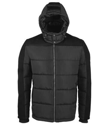 Doudoune chaude à capuche homme - 02886 - noir