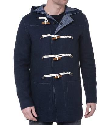 Duffle Coat Navy Boutonné Homme