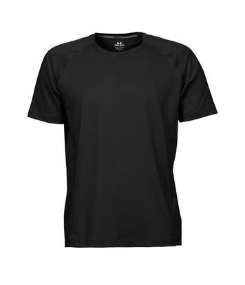 Tee Jays Mens Cool Dry Short Sleeve T-Shirt (Black) - UTBC3323