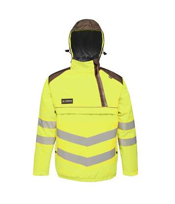 Regatta Mens Tactical Hi Vis Waterproof Reflective Overhead Bomber Jacket (Yellow/Grey) - UTRG3988