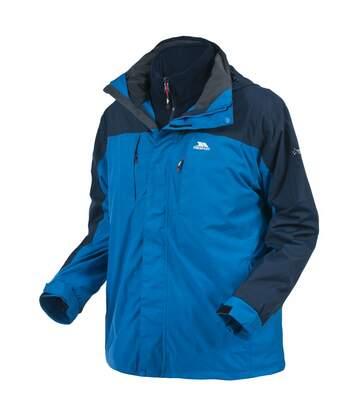 Trespass Mens Faris Full Zip 3 In 1 Jacket (Electric Blue) - UTTP1301