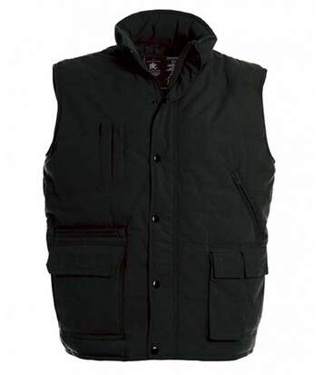 Doudoune anorak homme sans manches - Bodywarmer JU880 - noir