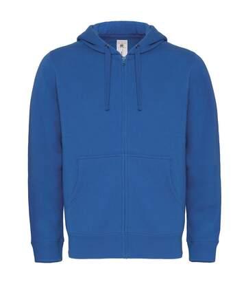 B&C Mens Full Zip College Hooded Sweatshirt/Hoodie (Black) - UTRW3029