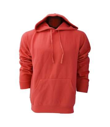 Russell Colour Mens Hooded Sweatshirt / Hoodie (Classic Red) - UTBC568