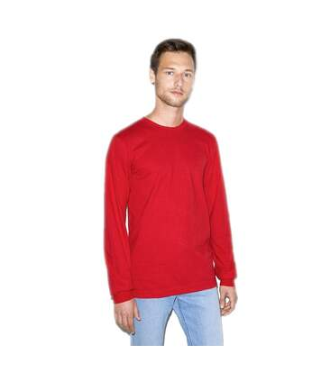 American Apparel - T-Shirt Manches Longues - Unisexe (Rouge) - UTPC4068