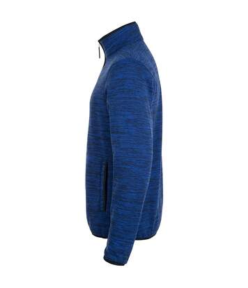 SOLS Mens Turbo Pro Knitted Fleece Jacket (Navy Pro/Bugatti Blue) - UTPC2744