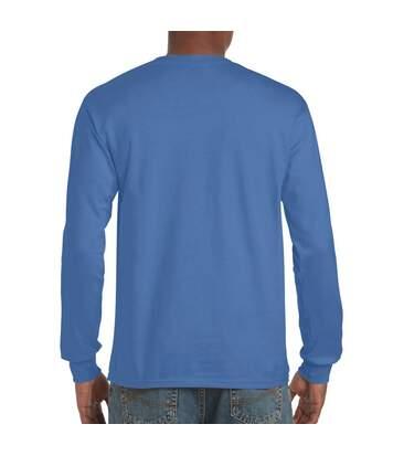 Gildan Mens Hammer Heavyweight Long Sleeve T-Shirt (Flo Blue) - UTPC3068