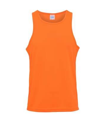 Just Cool Mens Sports Gym Plain Tank / Vest Top (Burgundy) - UTRW687