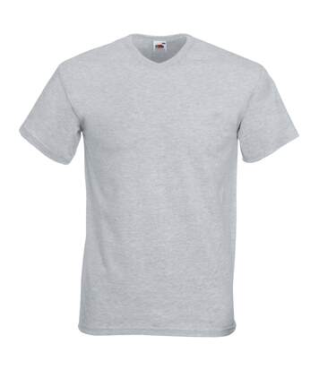 Fruit Of The Loom Mens Valueweight V-Neck, Short Sleeve T-Shirt (Heather Grey) - UTBC338