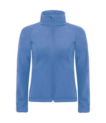 B&C Womens Hooded Premium Softshell Jacket (Windproof, Waterproof & Breathable) (Azure Blue) - UTBC2004