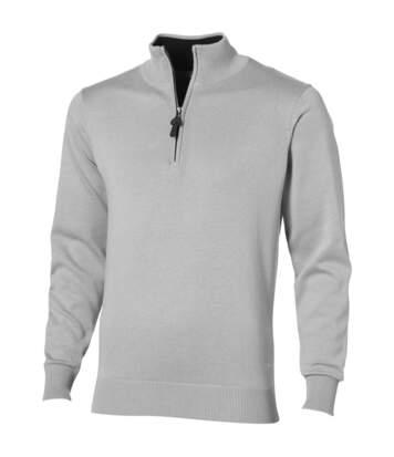 Slazenger Set Quarter Zip Pullover Jumper (Grey) - UTPF1755
