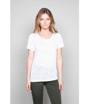 T-shirt à motifs brillants MARCIA Off White