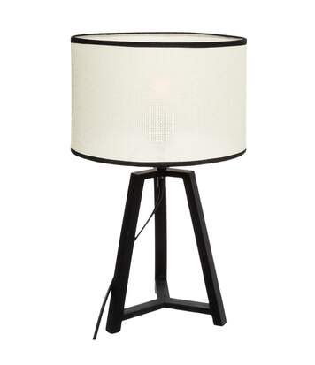 Atmosphera - Lampe Trépied Paille et Noir H 48 cm
