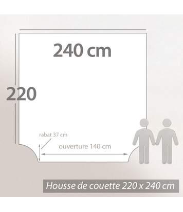 Parure de lit 240x220 cm flanelle de coton COLETTE beige 3 pièces