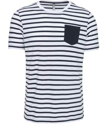 T-shirt manches courtes marin - K378 - bleu marine - homme