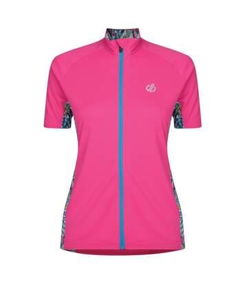 Dare 2B - Maillot De Cyclisme Expound - Femme (Rose vif/turquoise) - UTRG4313