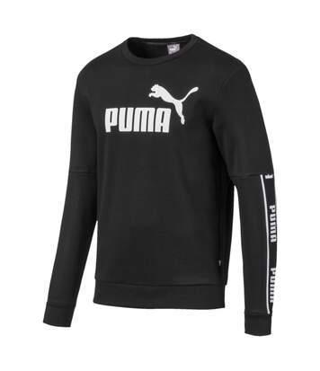 Sweat Noir Homme Puma Amplified Crew