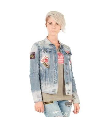 Veste Jeans Femme Sally Used Bleu
