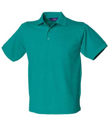 Henbury Mens Short Sleeved 65/35 Pique Polo Shirt (Heather Grey) - UTRW625