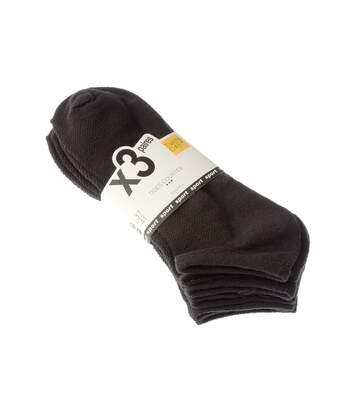 Chaussette Mini-chaussettes - Lot de 3 - Sans bouclette - Fitness - Fine - Noir