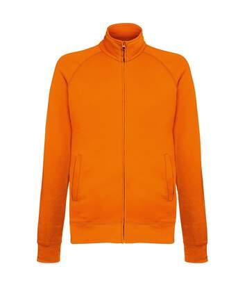Fruit Of The Loom Mens Lightweight Full Zip Sweatshirt Jacket (Black) - UTRW4500