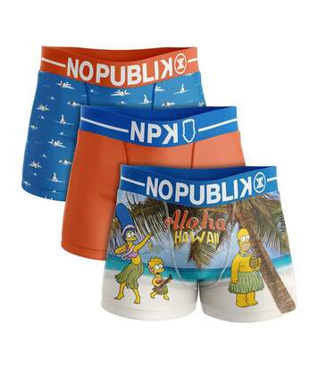lot de 3 boxers homme simpson hawaii