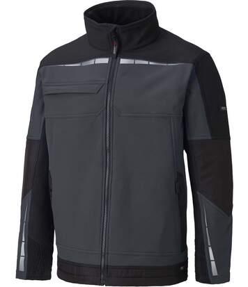 Veste softshell de travail - DDP1001 - gris et noir