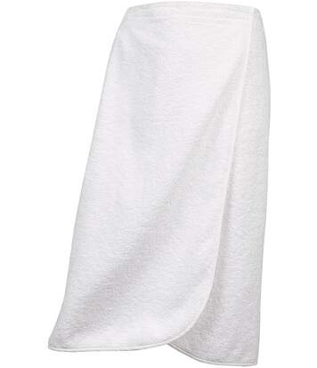 Paréo de bain - sauna - coton éponge - K123 - blanc