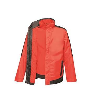 Regatta Mens Contrast 3 In 1 Jacket (Classic Red/Black) - UTRG4095