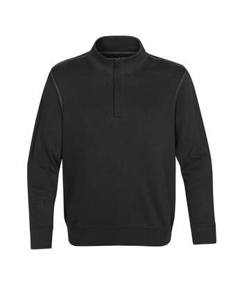 Stormtech Mens Hanford 1/4 Zip Mock Neck Jumper/Sweatshirt (Black/Charcoal) - UTBC3069