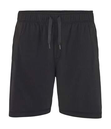 Comfy Co Mens Elasticated Lounge Shorts (Black) - UTRW5320